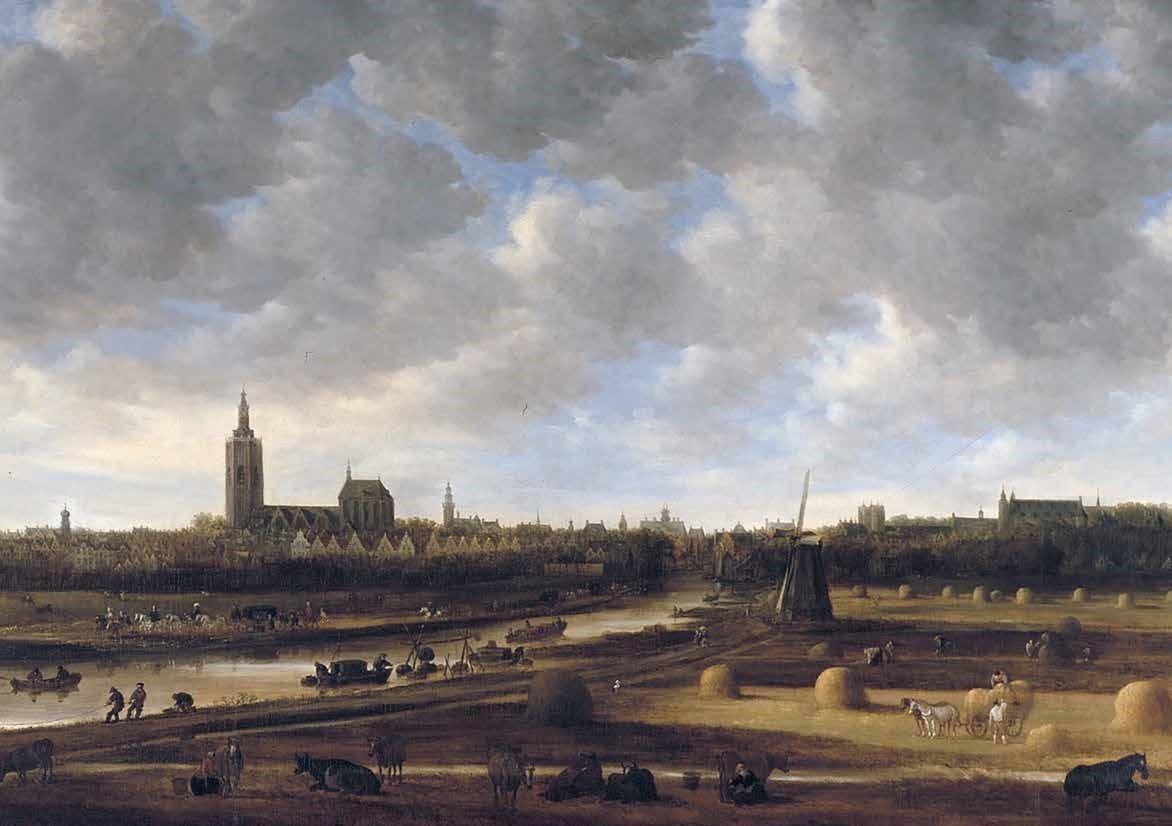 Jan van Goyen, Gezicht op Den Haag vanaf de Haagse Trekvliet, 1650. Haags Historisch Museum