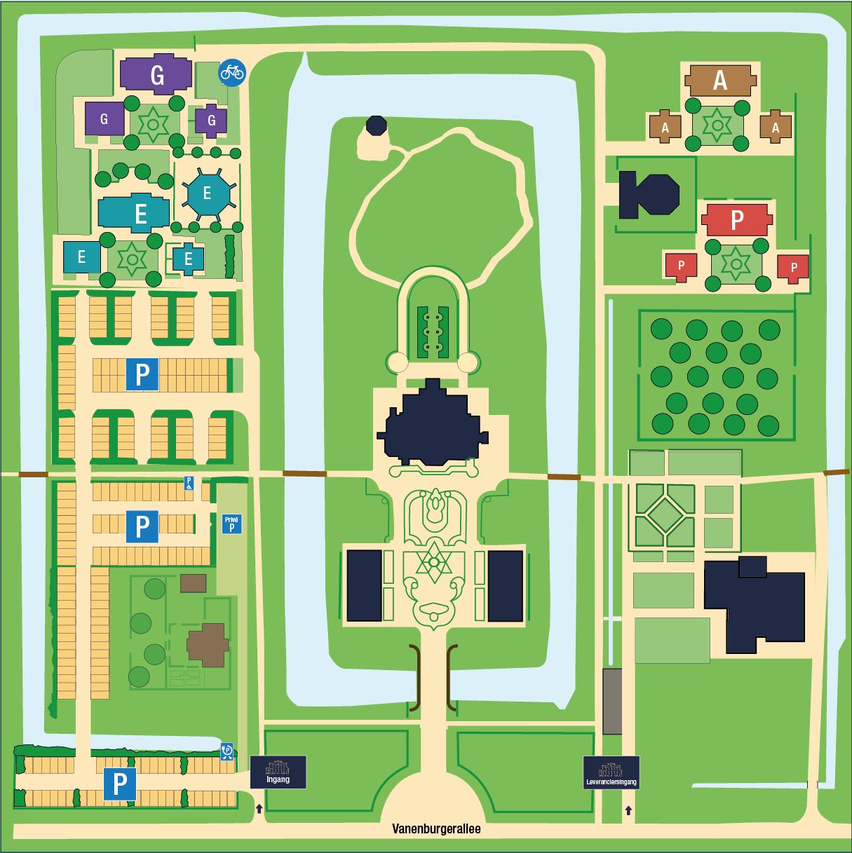 Vanenburg plattegrond