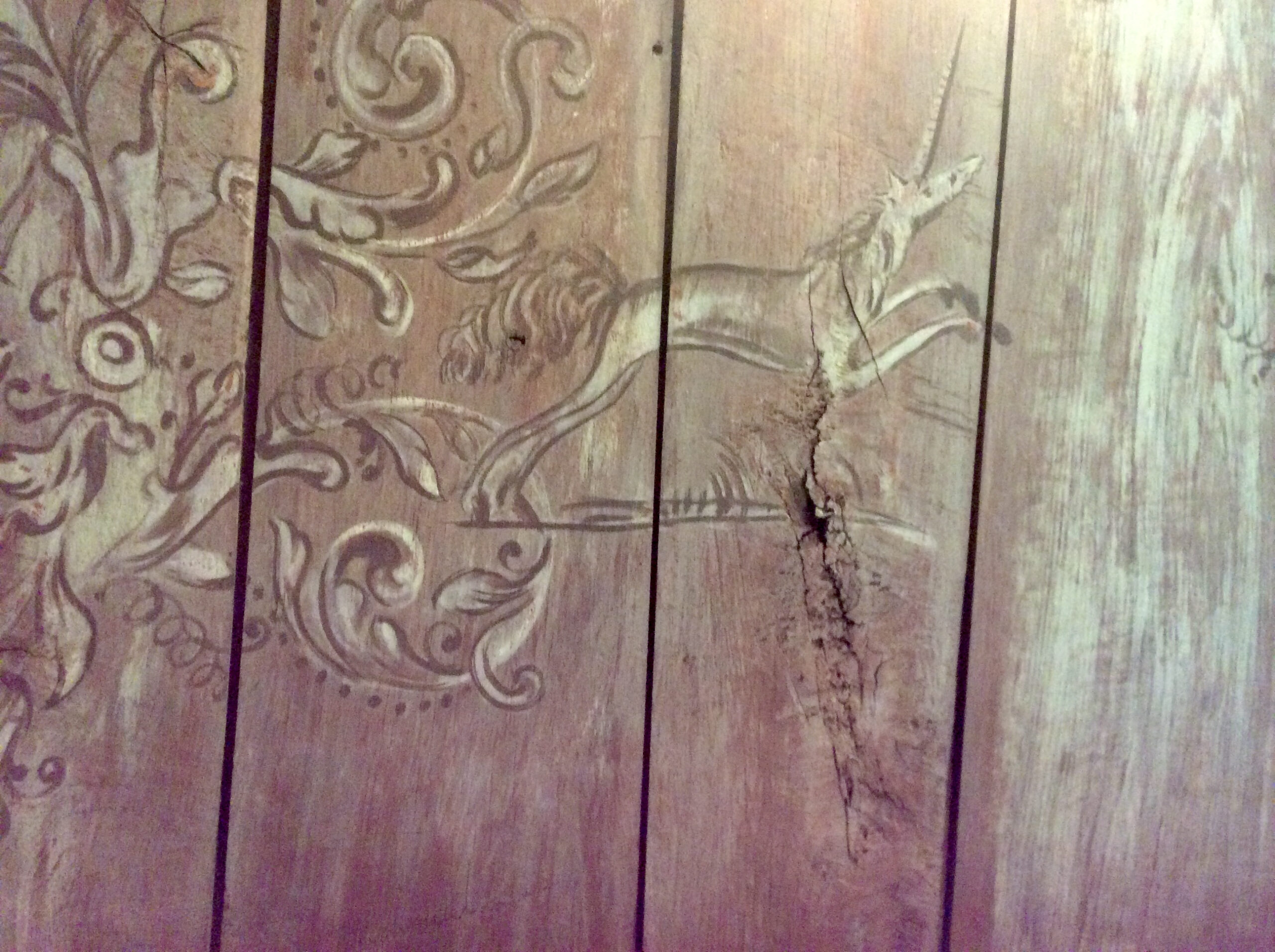 Breckelenkamp, detail plafond eenhoorn, foto Barbara Joustra
