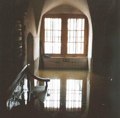 Hoog water kasteel Amerongen